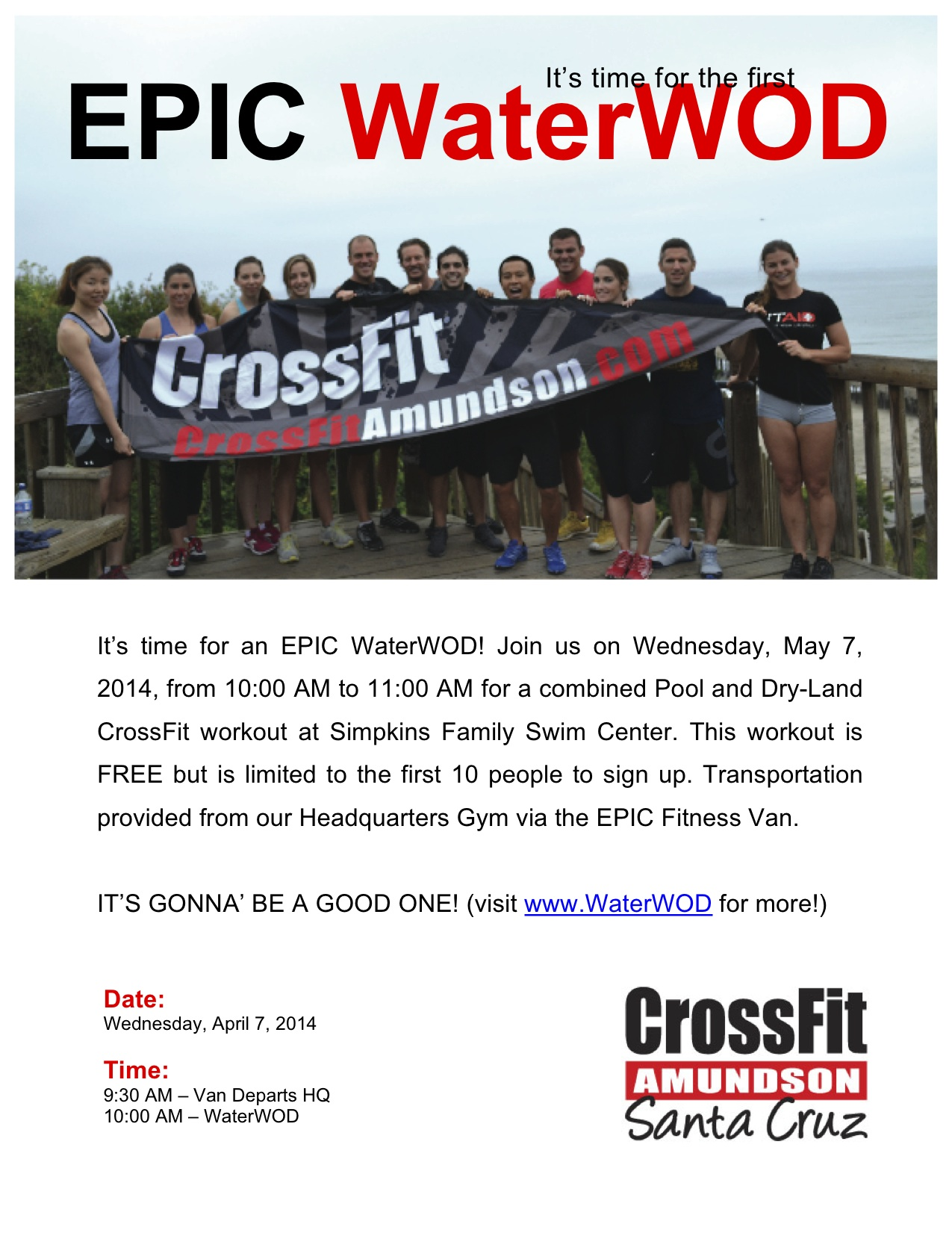 Our Waterwod Workouts Are Now Posted Monthly These Followed At Crossfit Amundson During Their Tuesday Epic Outdoor Workout And Usually Take